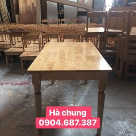 Bàn chữ nhật chất liệu gỗ tự nhiên